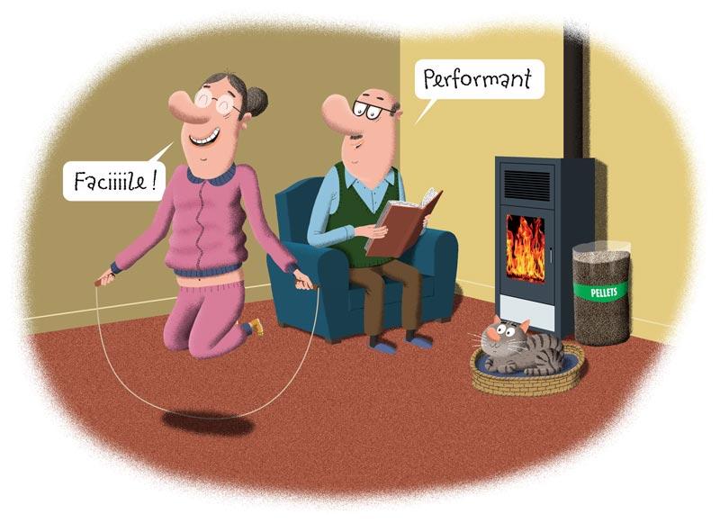 Chauffage au granulé de bois facile et performant